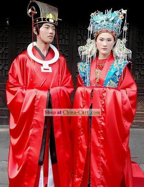 Supreme Chinese Ancient Cantonese Wedding Dress Male And Female 2