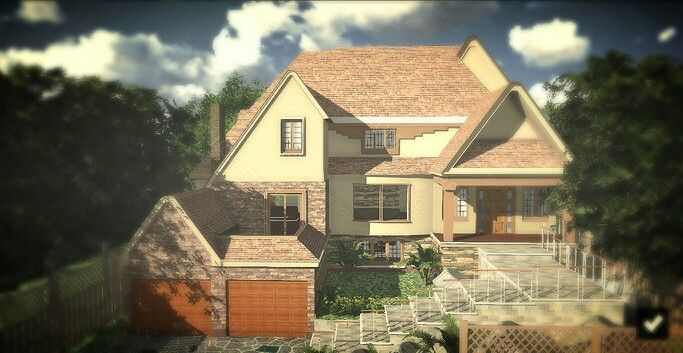 House I designed in Sketch Up and rendered in Lumion