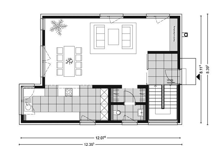 Ber ideen zu pultdachhaus auf pinterest pultdach for Pultdachhaus grundriss