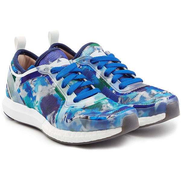Adidas by Stella McCartney Climacool Sonic Sneakers ($135) ❤ liked on Polyvore featuring shoes, sneakers, multicolor, lace up sneakers, adidas trainers, multicolor sneakers, multi color sneakers and round toe sneakers