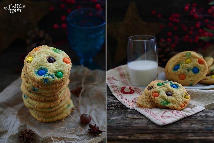 Домашнее печенье с шоколадным драже - HAPPYFOOD