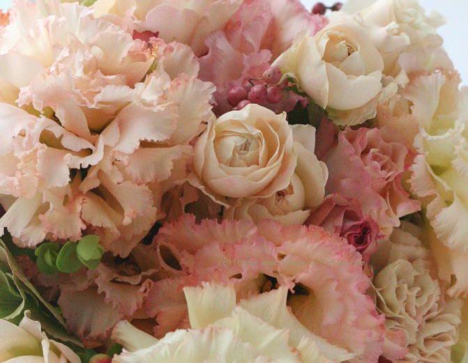 ブーケ トルコキキョウ ベージュアプリコット ホテルミラコスタ様へ : 一会 ウエディングの花
