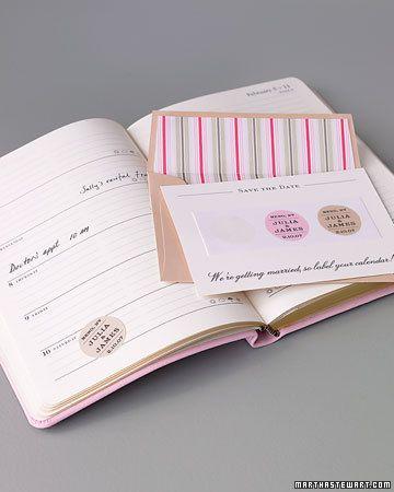 Good Things | Martha Stewart Weddings | Diy save the dates ...