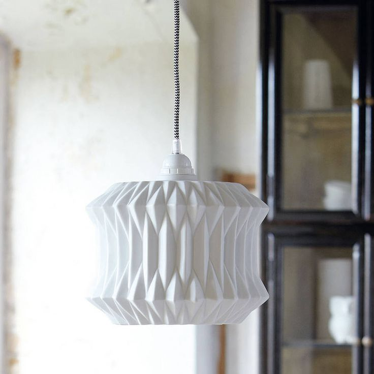 20 best lampshades images on pinterest lamp shades light covers fold ceramic lampshade white lamp shadeorigami mozeypictures Gallery