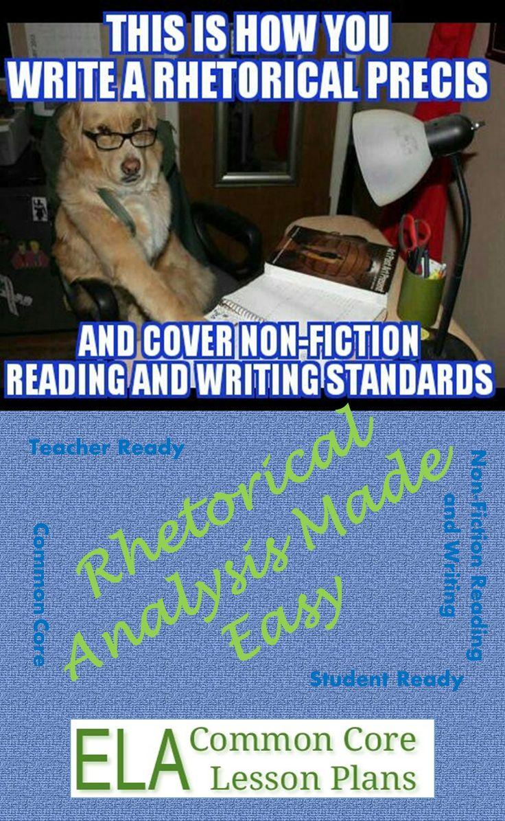 How do I describe an author who has a Phd in a rhetorical precis?