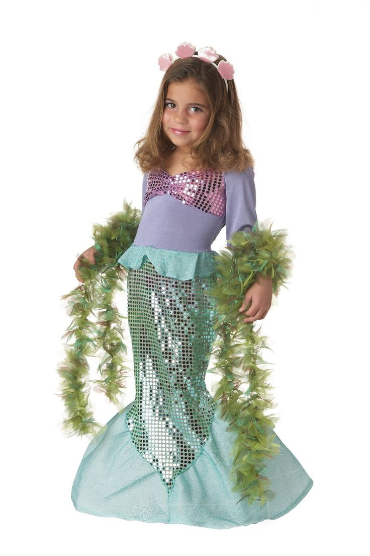Ariel diy costume full diy mermaid costume post - Little Mermaid Ariel Disney Costume Kids Complete Wig Dress Halloween
