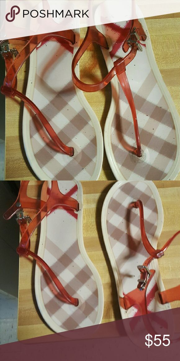 Burberry woman jelly sandals Authentic Burberry sandals Burberry Shoes Sandals