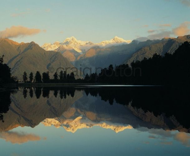 Craig Potton | Lake Matheson, Mt Tasman & Mt Cook