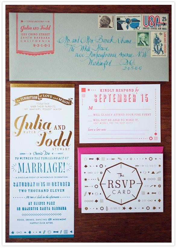 Vintage Santa Barbara wedding: Vintage Santas, Santa Barbara, Wedding Ideas, Invitation Ideas, Vintage Wedding Invitations, Invitation Suite, Party Ideas