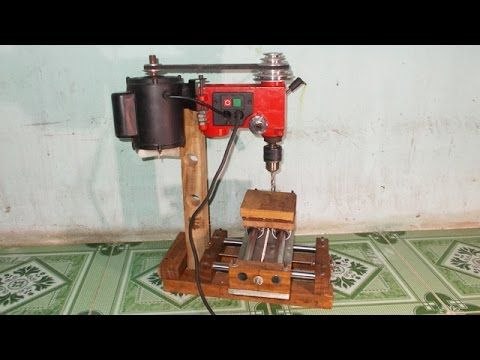 Homemade Mini Press Drill Milling Mill Router Wood Lathe