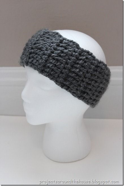 Quick & Chunky Ear Warmer Crochet Pattern by Christine at Projects Around the House.