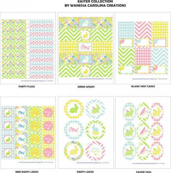 """Free """"Birds and Bunnies"""" Easter printables"""