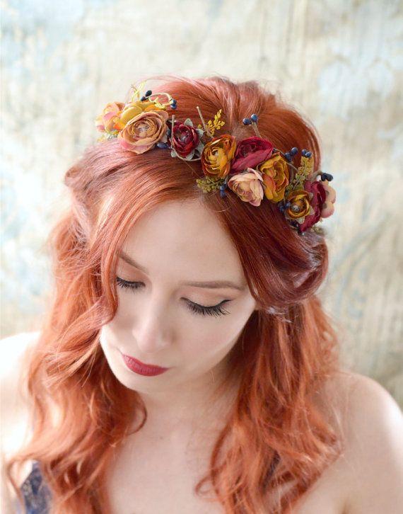 Accessoires cheveux chute diadème en bois par gardensofwhimsy