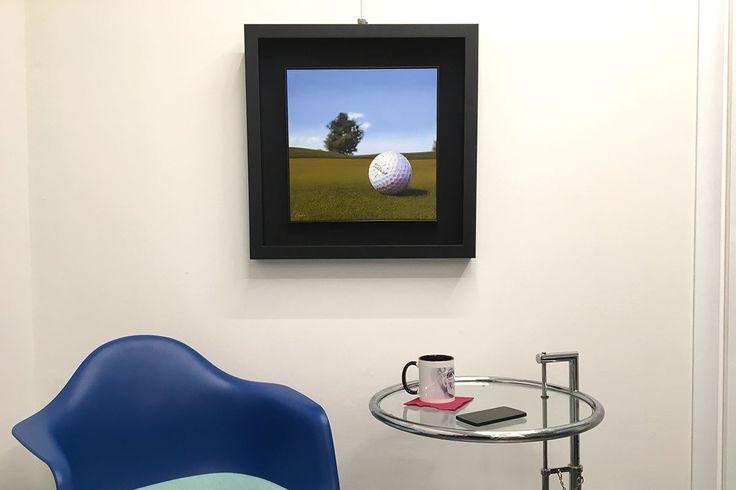 Istante di golf, non è una fotografia, ma un dipinto a mano olio su tela di Paolo Brugiolo | fluidofiume Art Gallery