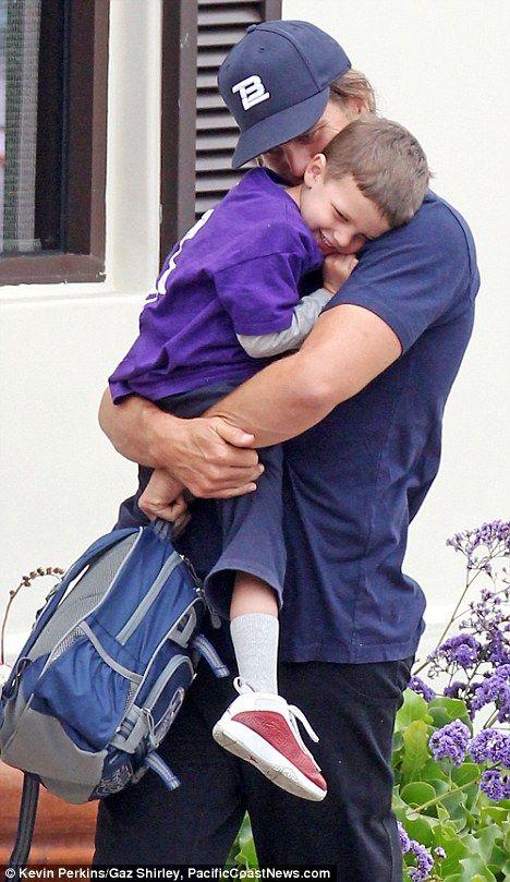 Tom Brady with his son