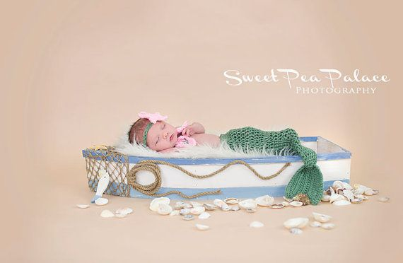 Newborn Baby Photography Prop Digital Backdrop for Photographers Boat Beach Mermaid on Etsy, $9.99