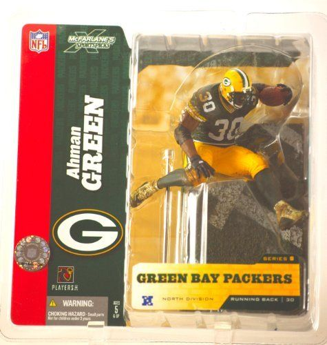 2004 - McFarlane / Sportspicks - Ahman Green #30 - Running Back - Green Bay Packers - Series 8 - - New - OOP - Collectible by mcfarlane. $5.99. Green Bay Packers - Series 8. New - Out of Production - Collectible. Ahman Green #30 - Running Back. North Division - Green Jersey. 2004 - McFarlane / Sportspicks. 2004 - McFarlane / Sportspicks - Ahman Green #30 - Running Back - Green Bay Packers - Series 8 - North Division - New - OOP - Collectible
