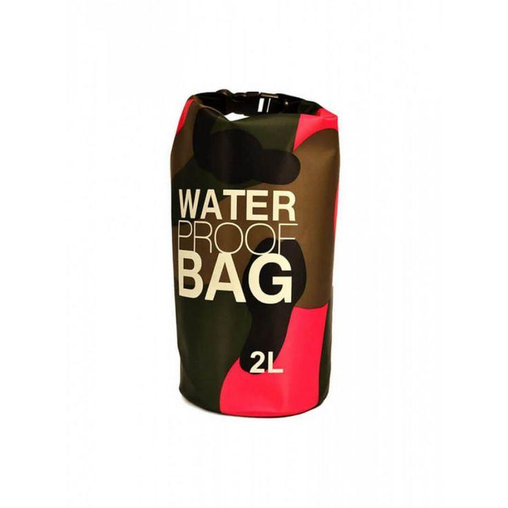 Pink Camo 2L Water Proof Bag