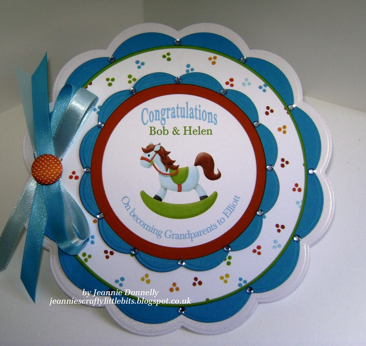 Card Making Ideas New Baby Boy Part - 50: New Baby Boy Card For Grandparents Using Dies From Spellbinders. Image And  Backing Paper From