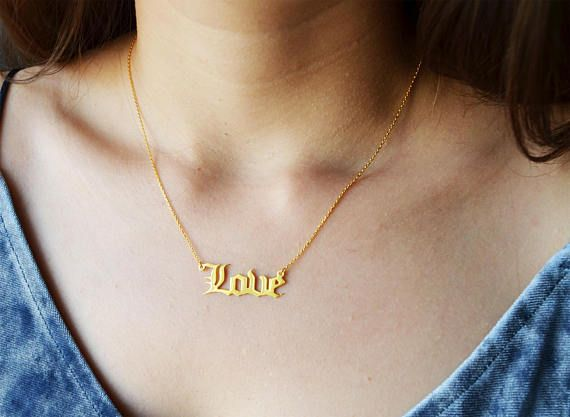 Personalized Gold Chain Gargantilha Old English Name Necklaces Maxi Colar For Women Bridesmaid Gift Best Friend Cu Name Necklace Necklace Gold Pendant Necklace