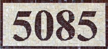 Handcrafted Marble Mosaic House Numbers - mediterranean - house numbers - other metro - Venice Custom Luxury Mosaic Designs