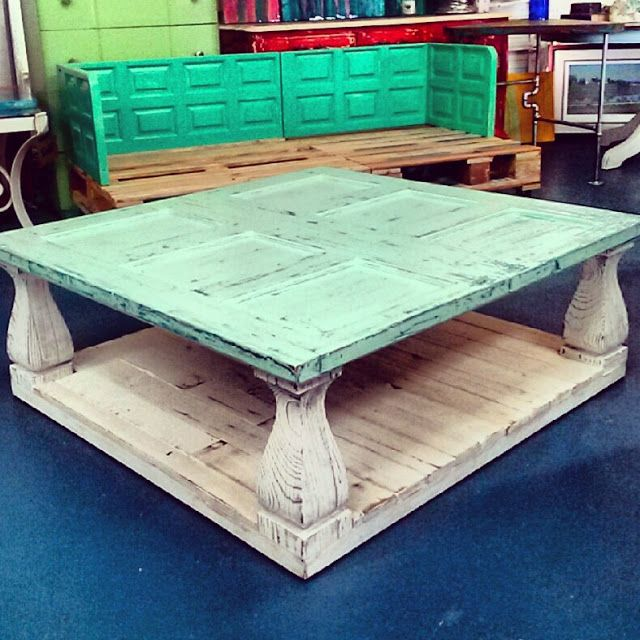Coffee Table Two Tone Roughed Up