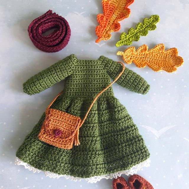 crocheted doll outfit