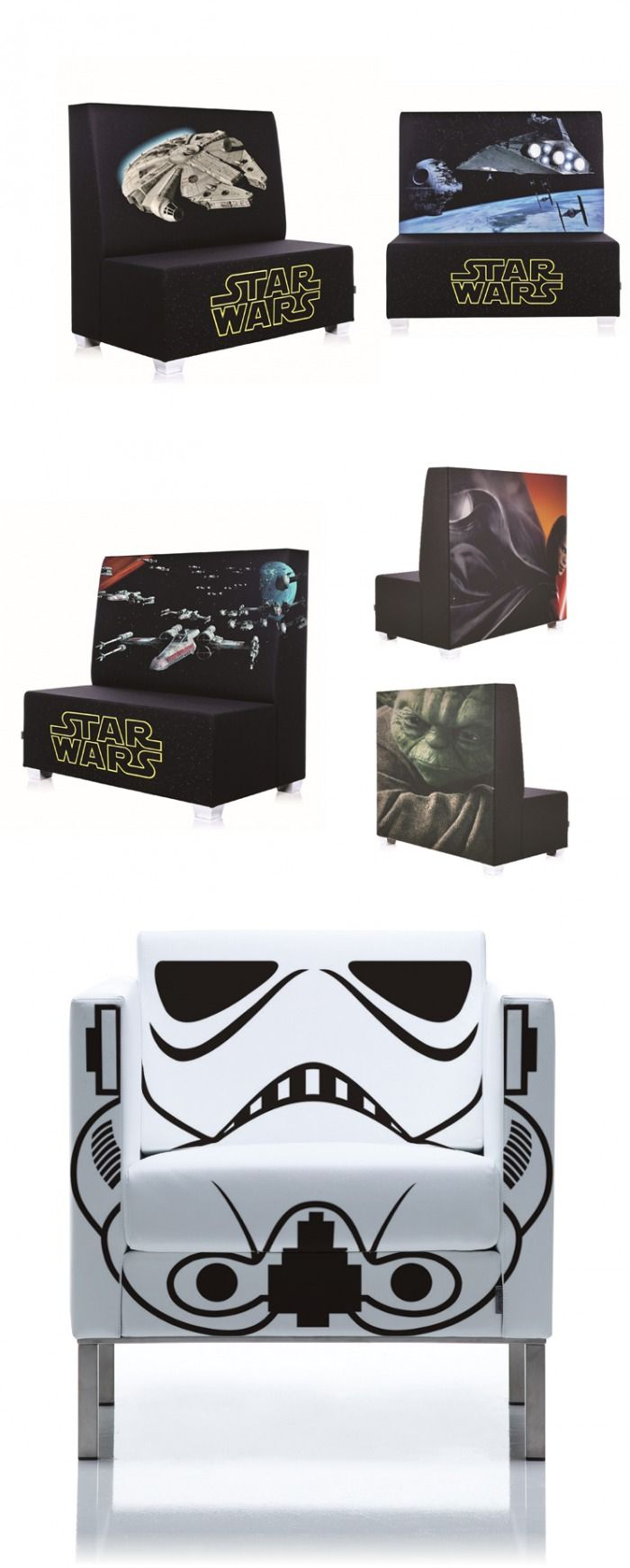 Star Wars printed Furniture in a Star Wars themed home-theater? How about YES