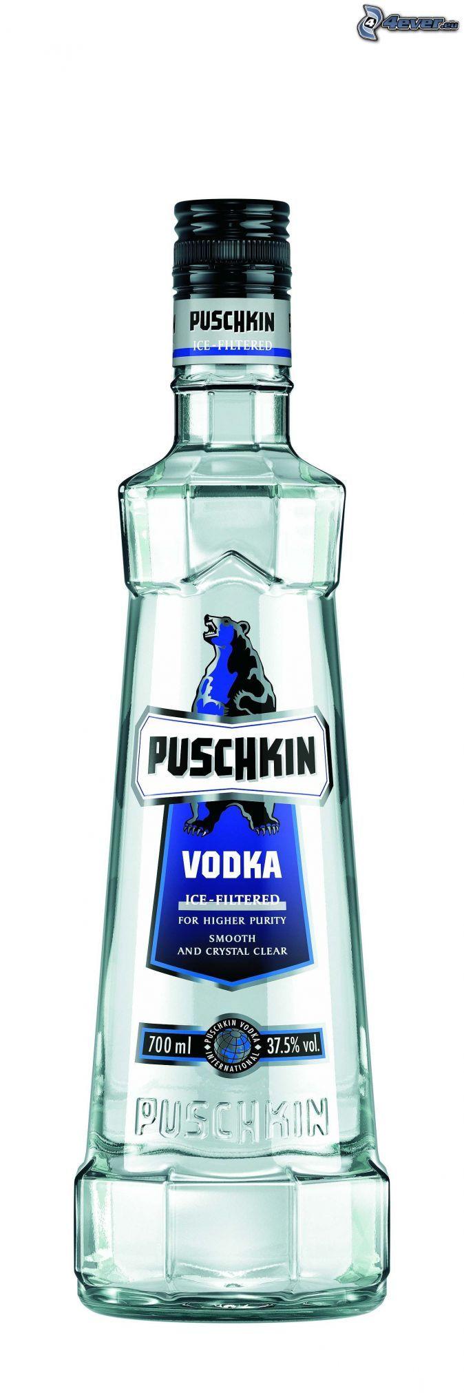 Puschkin la vodka, alcool