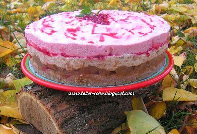 teller-cake: Ribizlihabos-almás réteges torta a magam módján (cukormentes!)