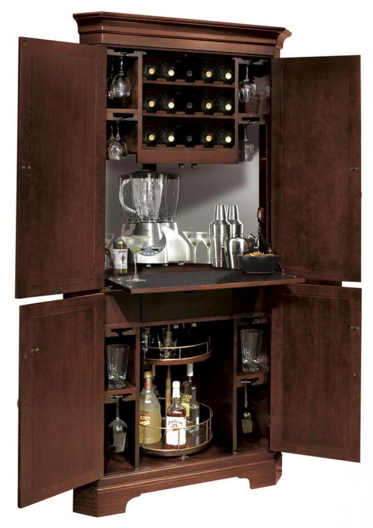 corner wine cabinet furniture | Howard Miller Corner Wine & Bar Cabinet - CHM1268