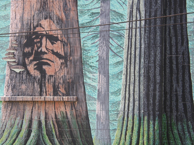 Port Alberni mural, First Nations art in a First Nations town http://www.vancouverislandlife.com