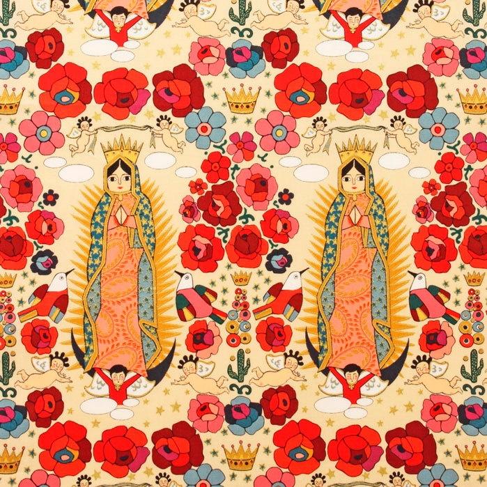 La Virgenita -  Alexander Henry Mexican Folklorico 1 Yard Fabric