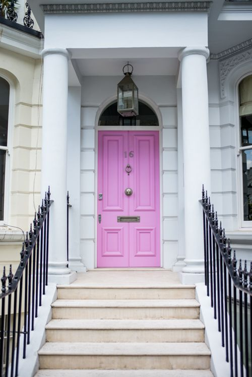 Gal Meets Glam- Notting Hill Pink Door