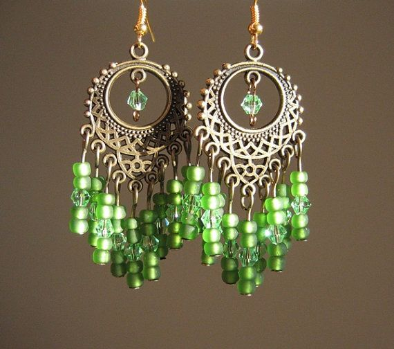 Bohemian brass & green chandelier earrings by prettypiecesjewelry on Etsy. #fashion #jewelry #boho http://www.etsy.com/listing/80524922/brass-and-green-chandelier-earrings?ref=sr_gallery_21_search_query=chandelier+earrings_view_type=gallery_ship_to=US_page=3_search_type=handmade_facet=handmade