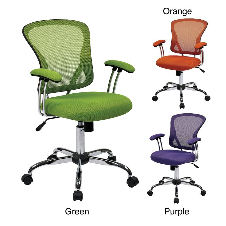 Finished with a high polished chrome base and dual post tubular arms, the stylish Juliana Task office chair will certainly energize and uplift anyone who sits in it. Constructed of breathable mesh, this chair is available in green, orange, and purple.