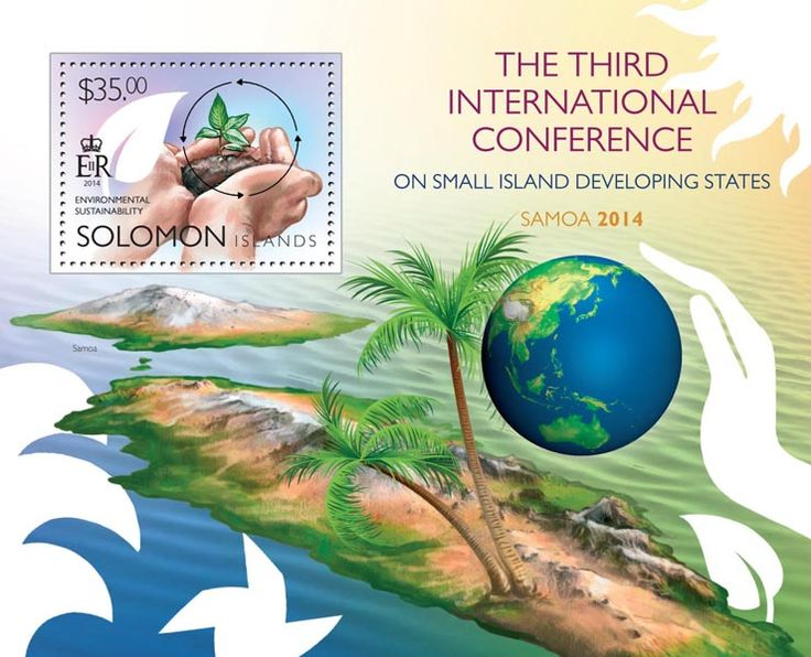 Post stamp Solomon Islands SLM 14501 b	The 3rd SIDS Conference (Environmental sustainability)