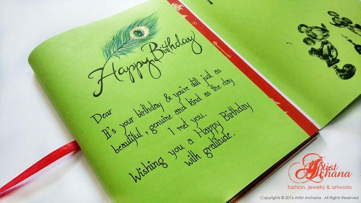 Handcrafted birthday greeting by Artistarchana