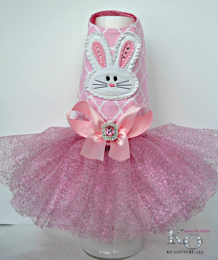 Dog Dress, Easter Bunny Tutu Harness Dress by KOCouture on Etsy
