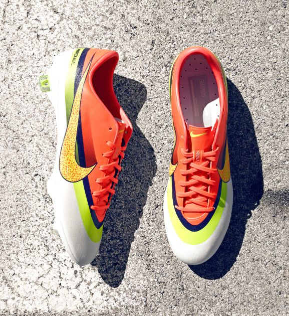 Nike Football Boots - Nike Mercurial Vapor IX CR FG - Firm Ground - Soccer Cleats - White-Volt-Total Crimson