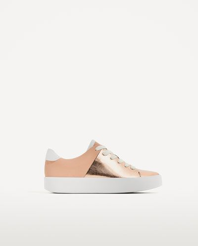 LAMINATED CHUNKY SOLE PLIMSOLLS-View all-SHOES-WOMAN | ZARA United States
