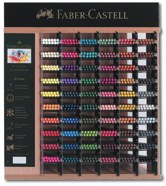 Range of Faber-Castell Pitt Pastel Pencils. They have a higher pigmentation and better build quality than other brands such as Derwent. On Sale at Colin Bradley Art.