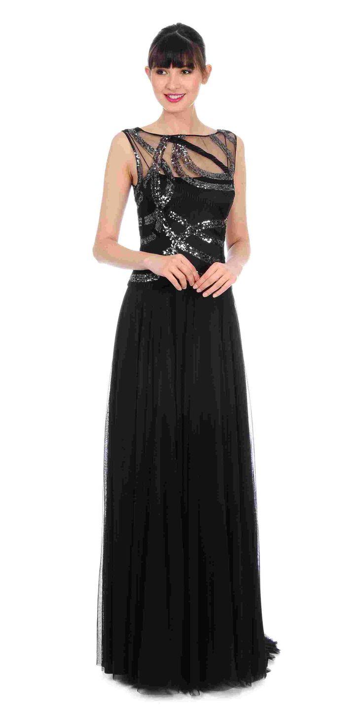 Kay Unger Flowing Sequin Gown $650 https://www.zindigoboutique.com/kay-unger-dresses/kay-unger-flowing-sequin-gown/ #Kayungergown #eveninggown