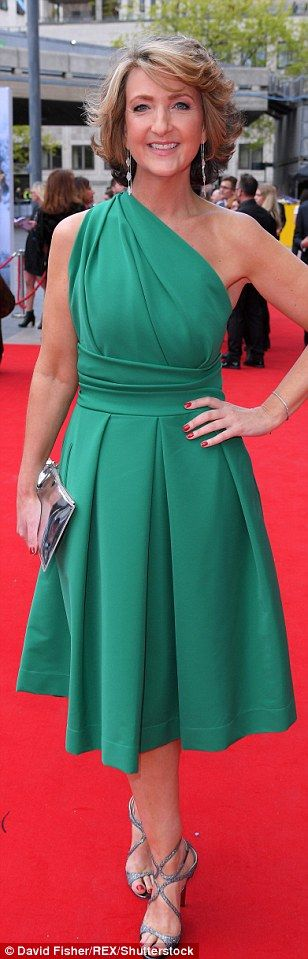 Bold and bright:Vanessa Kirby, Victoria Derbyshire and Lucy Pargeter (from left to right) sported jewel brights