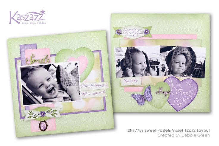 This project will show you how to create a lovely Sweet Pastels double page scrapbook layout using Texture Paste, Alcohol Ink Art Marker colouring and the Ezy-Press Create-A-Bow and Heart Dies.