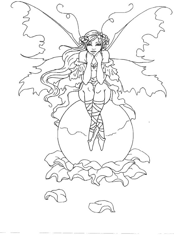 coloring pages of mystical angels - photo#21
