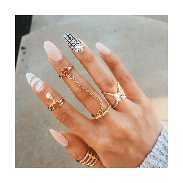 nails Tumblr We Heart It ❤ liked on Polyvore featuring beauty products, nail care and nails