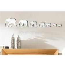 7pz Elefante Specchio Adesivo Da Parete Decorazioni Muro Arredo Casa Ufficio