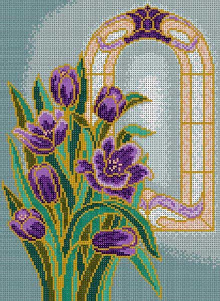 Stained tulipes verre