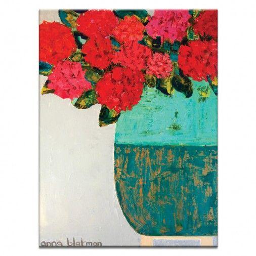 Red Geraniums by Anna Blatman | Artist Lane
